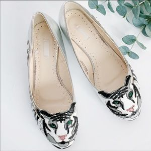 Urban Outfitters Cooperative Silver Tiger Flats 8